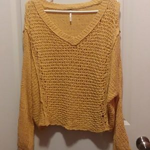 Free People Loose Knit Chunky Sweater